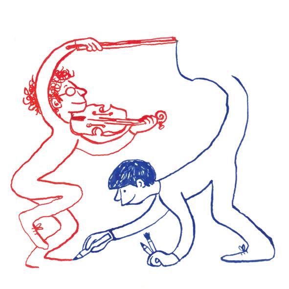 la Tortue Almada Neigreros dessin grand format XXL musique violon Compagnie OOO [Ouvrez l'oeil et l'oreille] Xavier Quentin Hélène Coudray l'oeuf éditions spectacle